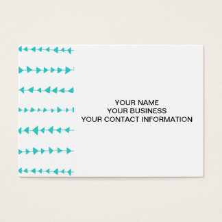 Aqua White Aztec Arrows Pattern Business Card