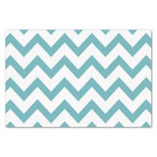 Aqua White Chevron Tissue Paper