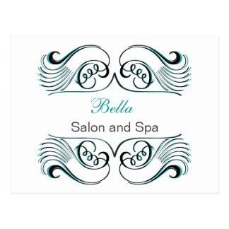 aqua  white Chic Business Thank You Cards Postcard