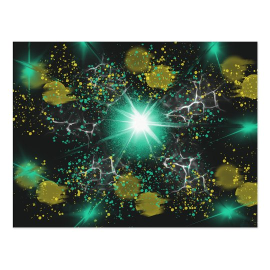 Aqua White Fantasy Space Star Abstract Art Design