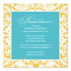 AQUA & YELLOW SHOWER | BRIDAL SHOWER INVITE