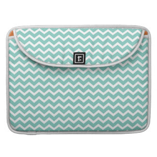Aqua Zig Zag Chevrons Pattern Sleeve For MacBooks