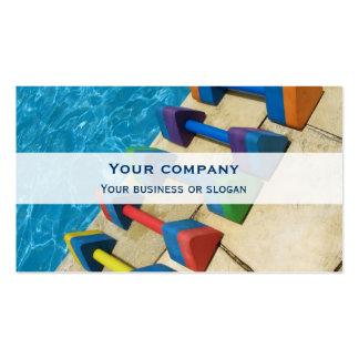 Aquacise double-face business card