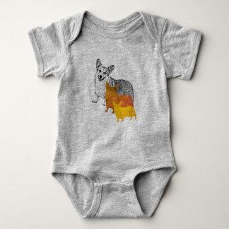 : aquacorg : Pop Art Corgi Baby Bodysuit