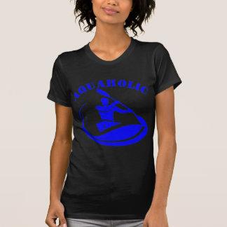 Aquaholic Kayak Guy Tee Shirt