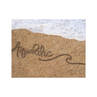 Aquaholic Wrapped Canvas