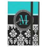 Aqual, Black Damask Your Initial, Your Name