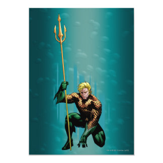 Aquaman Crouching 13 Cm X 18 Cm Invitation Card