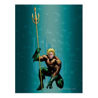Aquaman Crouching Postcard
