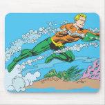 Aquaman Dashes Thru Water Mouse Pad