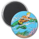 Aquaman Dashes Thru Water Refrigerator Magnet