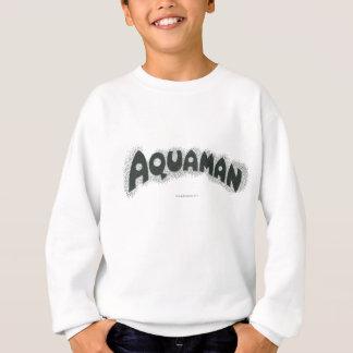 Aquaman Grunge Black Logo Sweatshirt