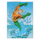 Aquaman Jumps Out of Sea Card