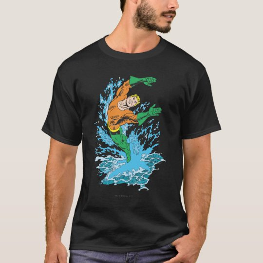 Aquaman Leaps in Wave T-Shirt