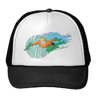Aquaman Leaps Left Cap