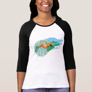 Aquaman Leaps Left T-Shirt