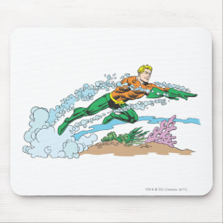 Aquaman Leaps Over Coral Mouse Mat
