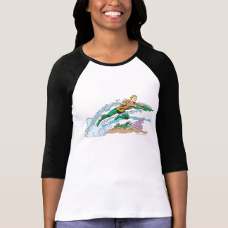 Aquaman Leaps Over Coral Tee Shirts