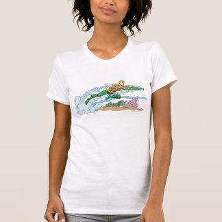Aquaman Leaps Over Coral Tshirts