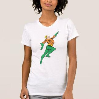 Aquaman Leaps Up T Shirt