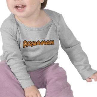 Aquaman Orange Logo T Shirt