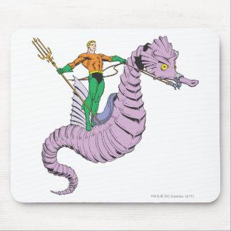 Aquaman Rides Seahorse Mouse Mat