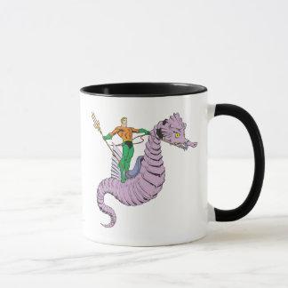 Aquaman Rides Seahorse Mug