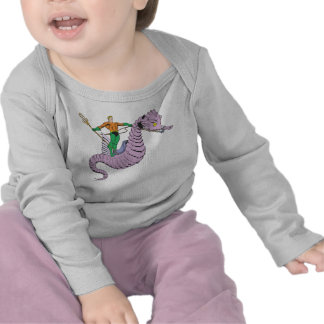 Aquaman Rides Seahorse T-shirts