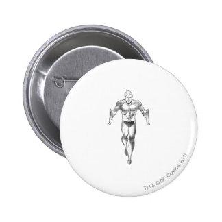 Aquaman Runs BW 6 Cm Round Badge