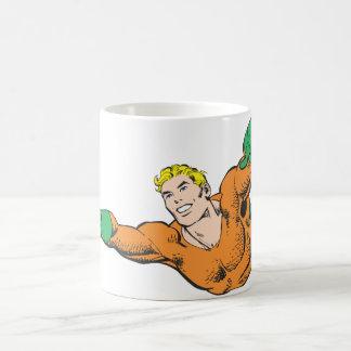 Aquaman Soars Basic White Mug