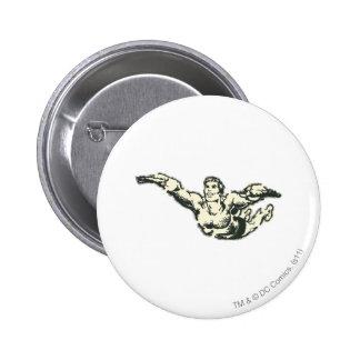 Aquaman Soars BW 6 Cm Round Badge
