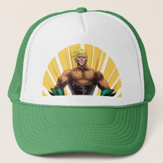 Aquaman Standing Trucker Hat