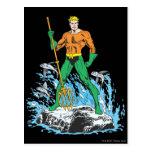 Aquaman Stands with Pitchfork Postcard