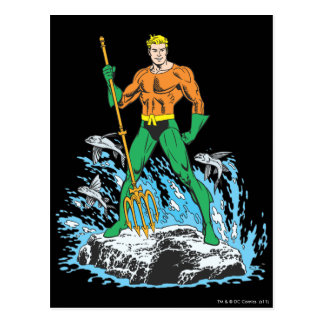Aquaman Stands with Pitchfork Postcard