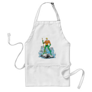 Aquaman Stands with Pitchfork Standard Apron