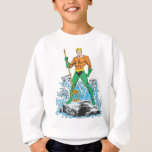 Aquaman Stands with Pitchfork Sweatshirt