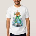 Aquaman Stands with Pitchfork T-shirts