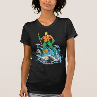 Aquaman Stands with Pitchfork Tee Shirts