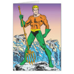 Aquaman Stands With Spear Greeting Card