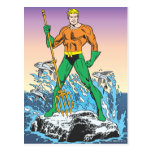 Aquaman Stands With Spear Postcards