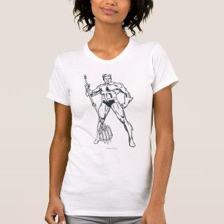 Aquaman with Pitchfork BW T-Shirt