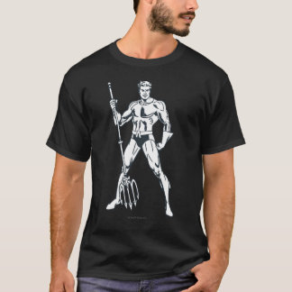 Aquaman with Pitchfork BW T-Shirt