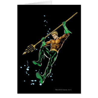 Aquaman with Spear Card