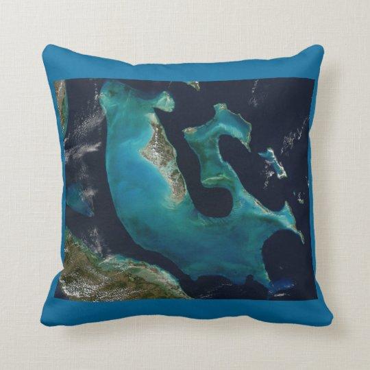 Aquamarine Abstract Bahamas Cushion