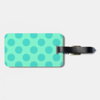 Aquamarine and Turquoise Polka Dots Luggage Tag