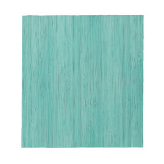 Aquamarine Bamboo Wood Grain Look Notepad
