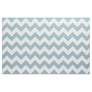 Aquamarine Blue Chevron Zigzag Fabric