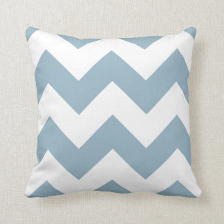 Aquamarine Blue Chevron Zigzag Throw Pillow