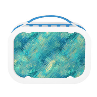 Aquamarine Blue Crystal Gel Texture Lunch Box