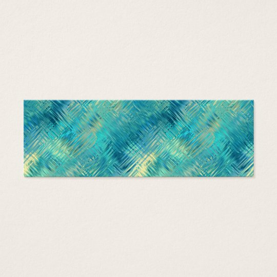 Aquamarine Blue Crystal Gel Texture Mini Business Card